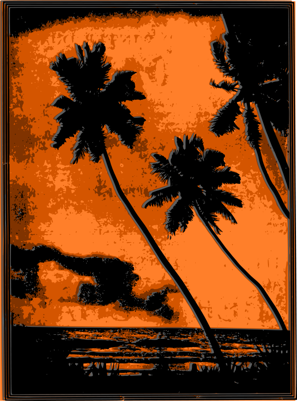 Free Tropical Beach Sunset