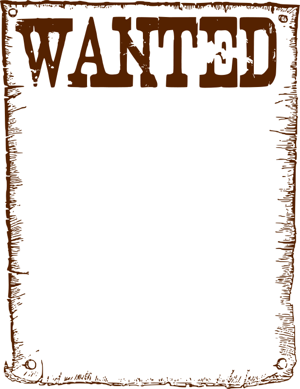 Free Wanted frame
