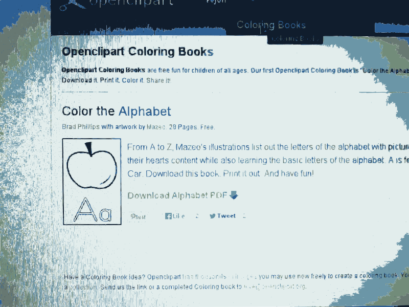Free Clipart: Openclipart Coloring Book is totally free and available now 1 | openclipart