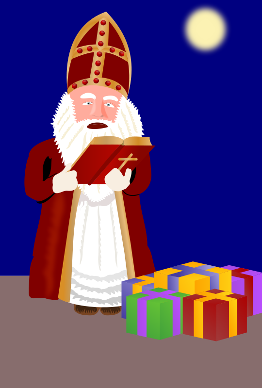 Free Sinterklaas with presents