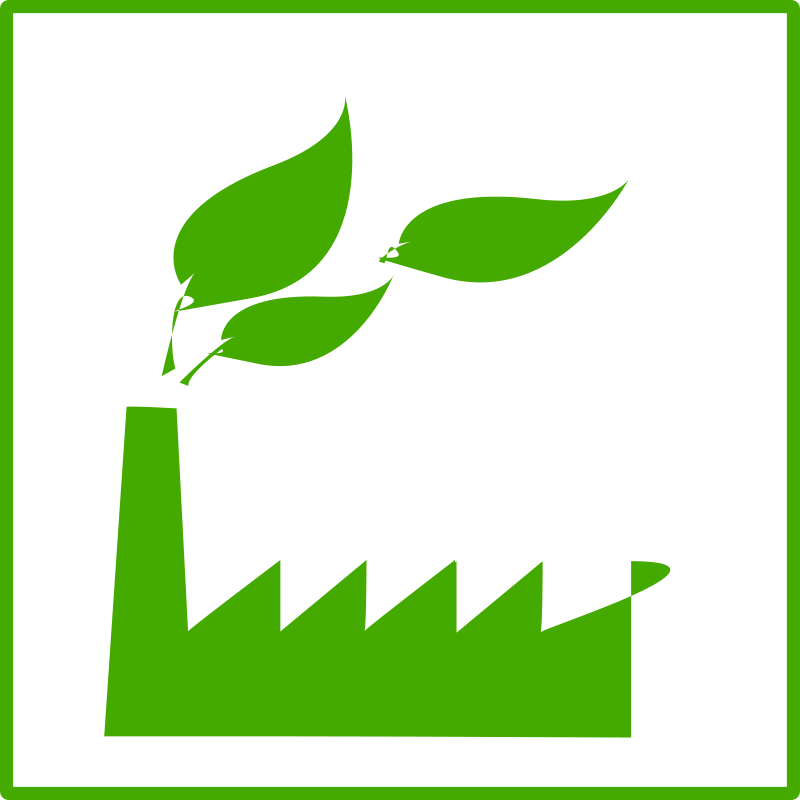 Free Clipart: Eco green factory icon | dominiquechappard