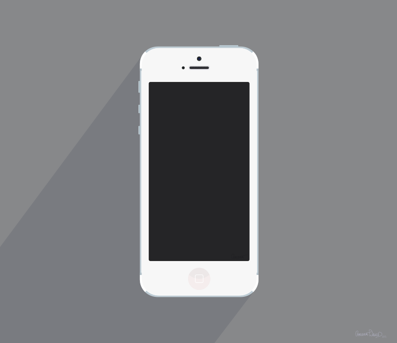Free Clipart White IPhone 5