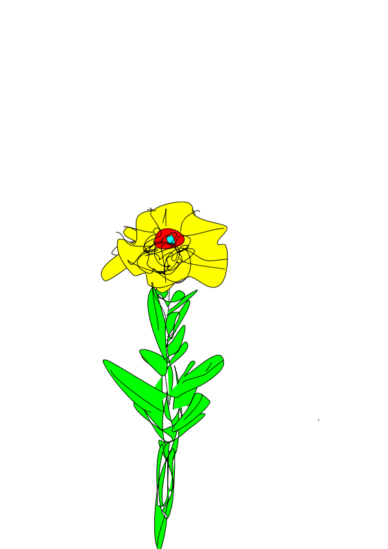 Free Simple yellow flower 2