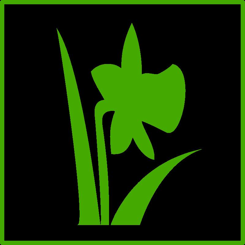 Free Eco green flower icon