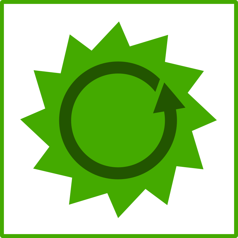 Free Clipart: Eco green energy icon | dominiquechappard