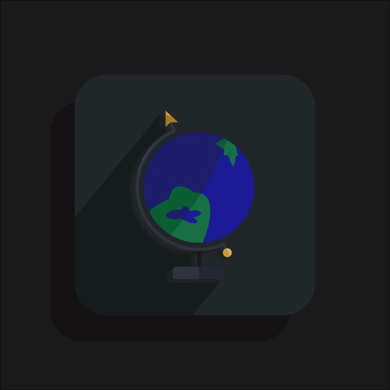 Free Inaccurate Globe Icon