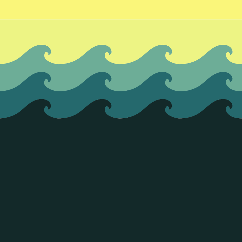 Free Tiled Wave Pattern