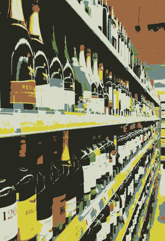 Free Wine selection on shelf