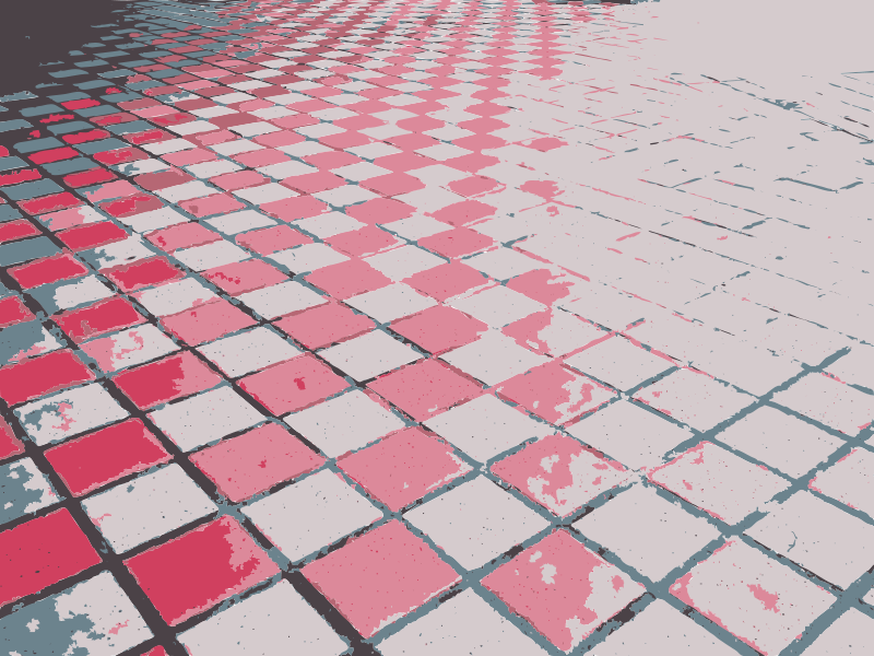 Free Floor checkered perspective