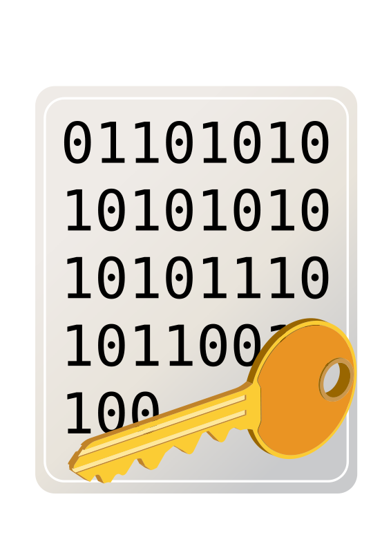 Free Clipart: Encrypted file | MeyerHoffman