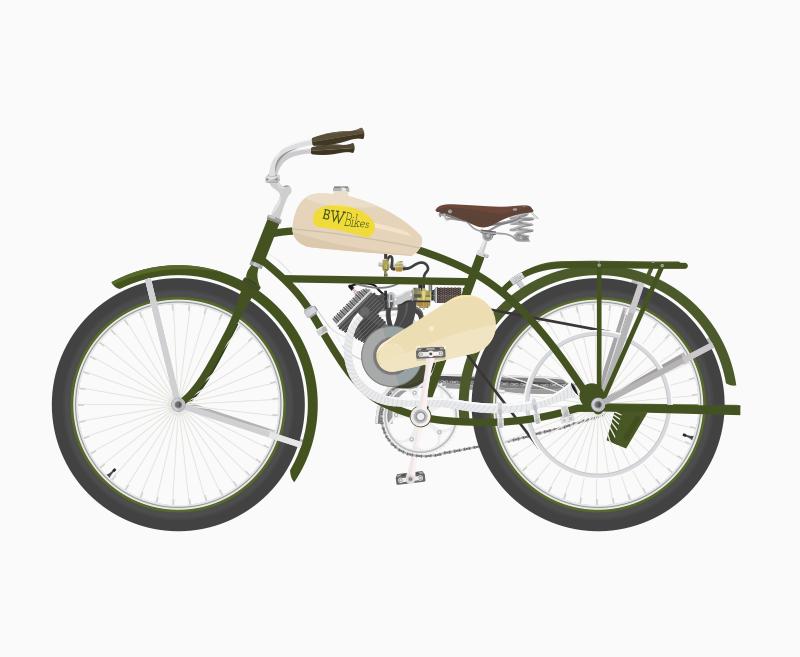 Free Vintage Bicycle With Motor