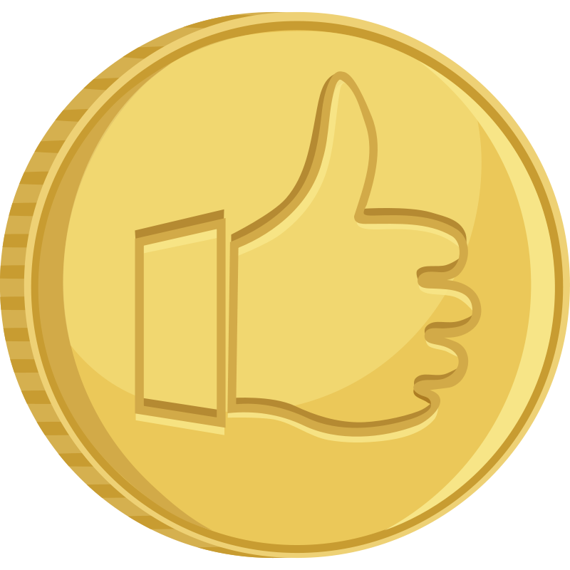Free Coin thumbs up