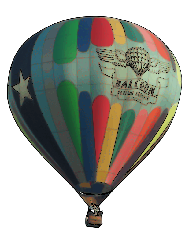 Free Clipart Hot Air Balloon Rambo Tribble
