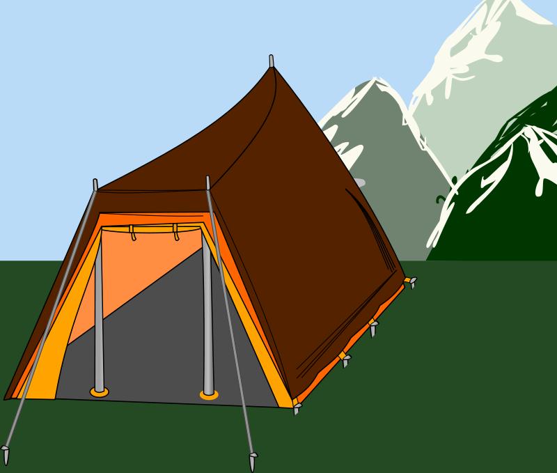 Free Big tent with three sticks