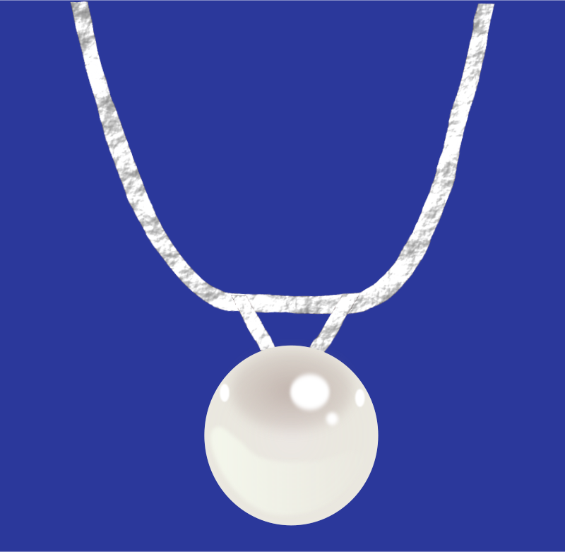 Free Single pearl necklace on silver chain