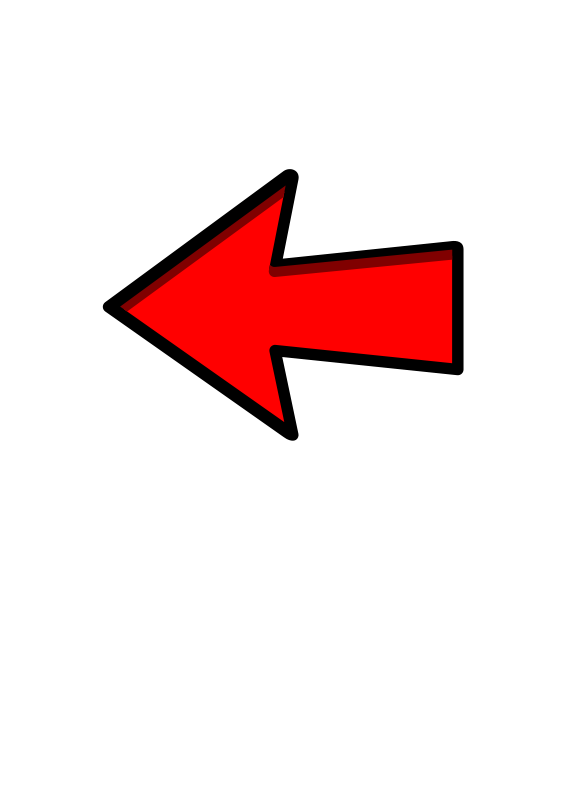 Free Clipart: Red Arrow Left Pointing | symbolicM