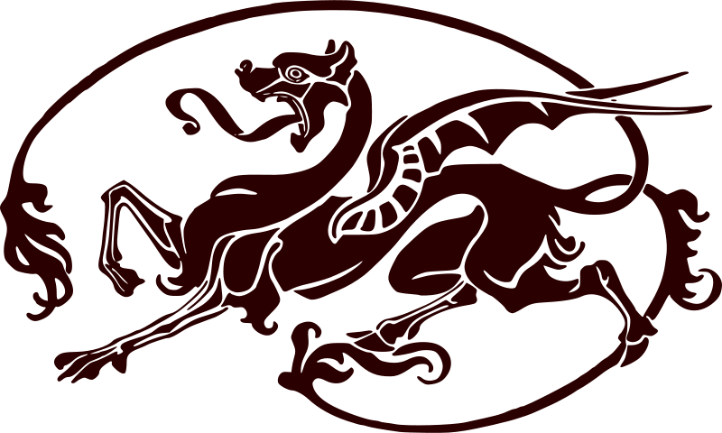 Free Art nouveau dragon