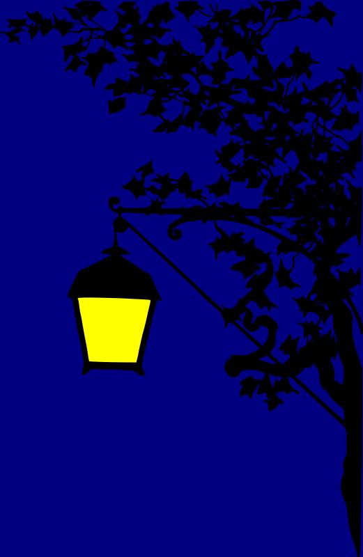 Free Vintage street lamp silhouette