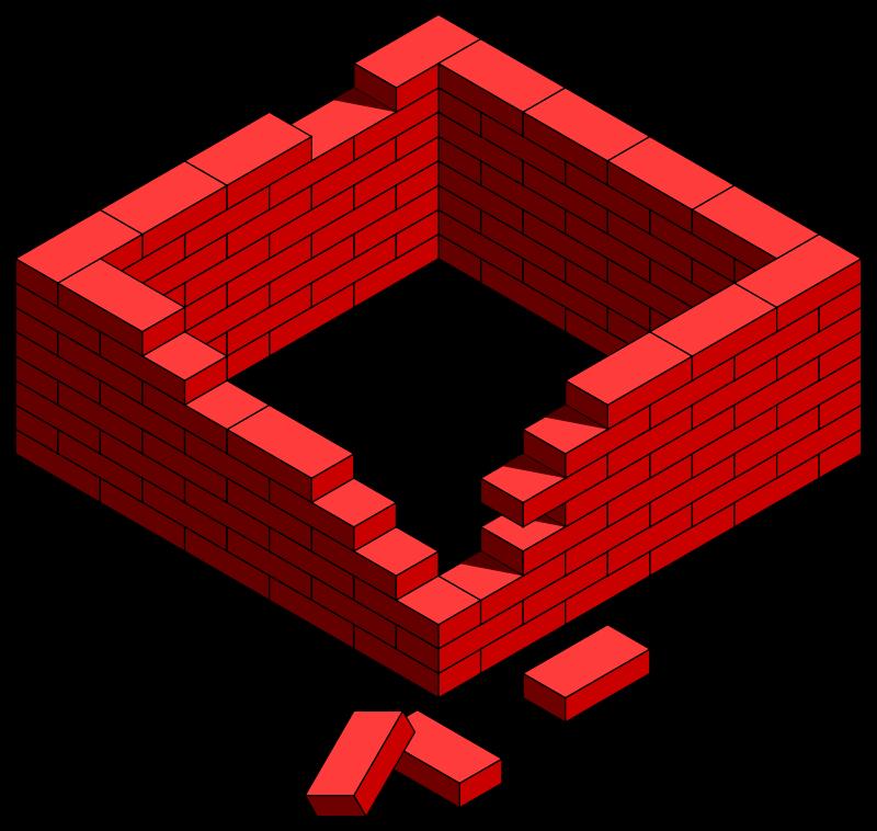 Free brick frame damaged