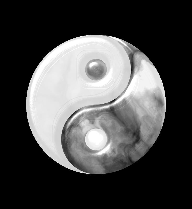 Free Marbled Yin Yang