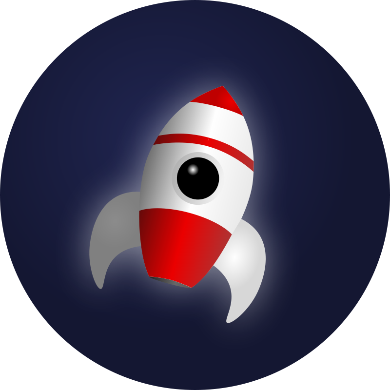 Free Clipart: Rocket in Space | Mahmoud