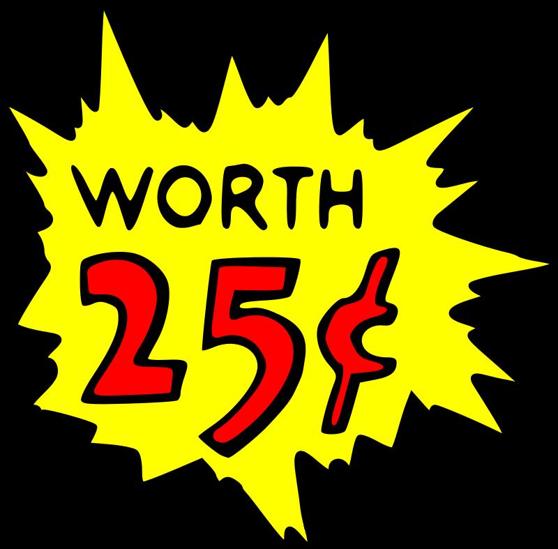 Free Clipart Worth 25 Cent Liftarn