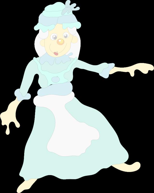 Free woman in blue dress