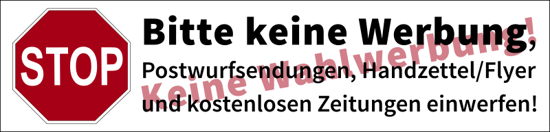 "Free Clipart: Postbox label ""No advertisements, no canvassing"" (german) 