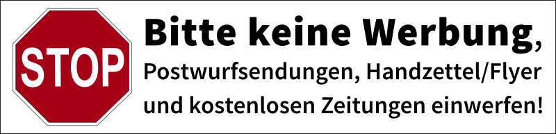 "Free Postbox label ""No advertisements"" (german)"