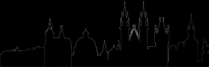 Free Prague silhouette