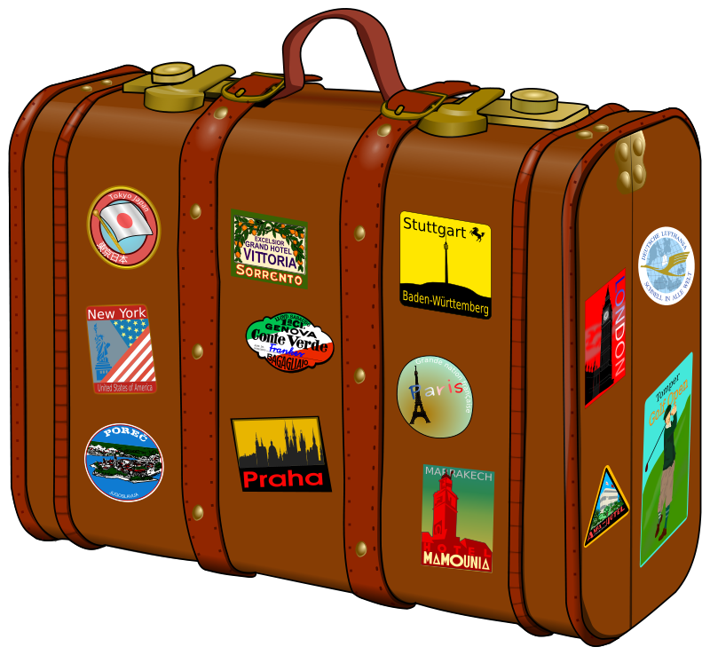 Free Clipart: Suitcase with stickers | frankes