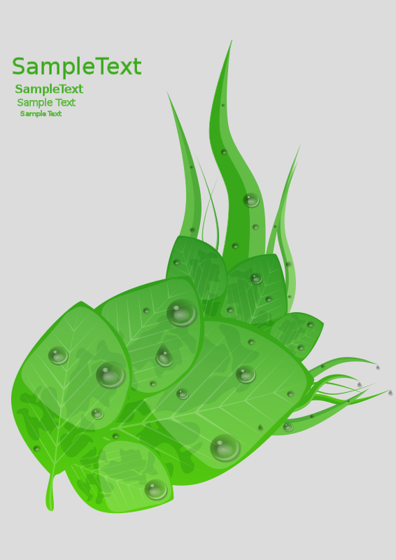 Free Clipart: Green Leafs | refreshdesign
