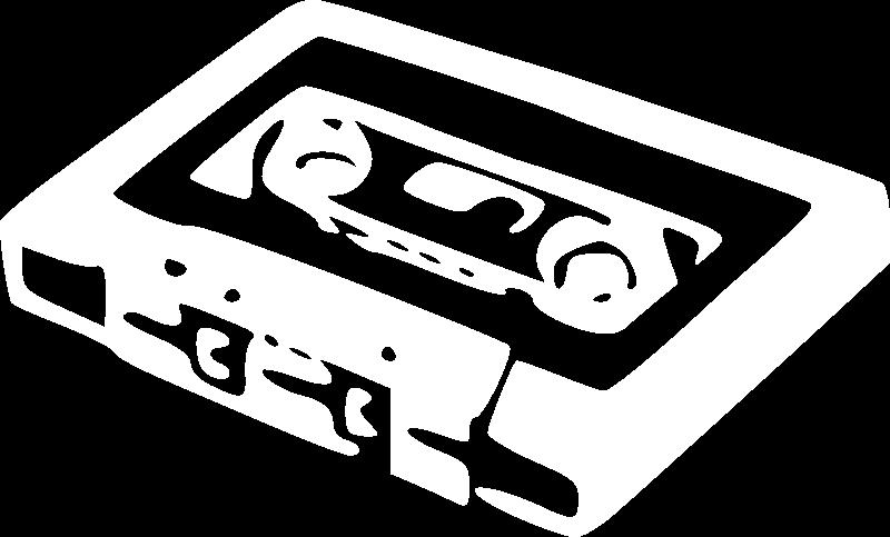 Free White Icon Tape Cassette