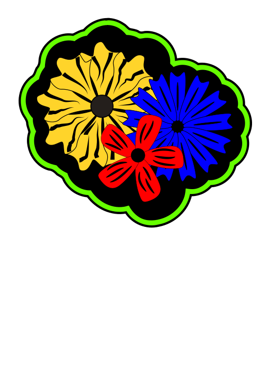 Free Retro Island Flowers