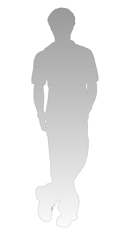 Free shadow of person - standing leg cross and put hands in the pockets