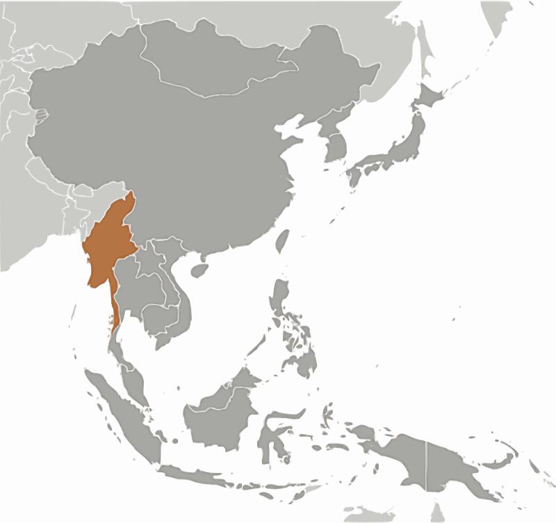 Free Burma location