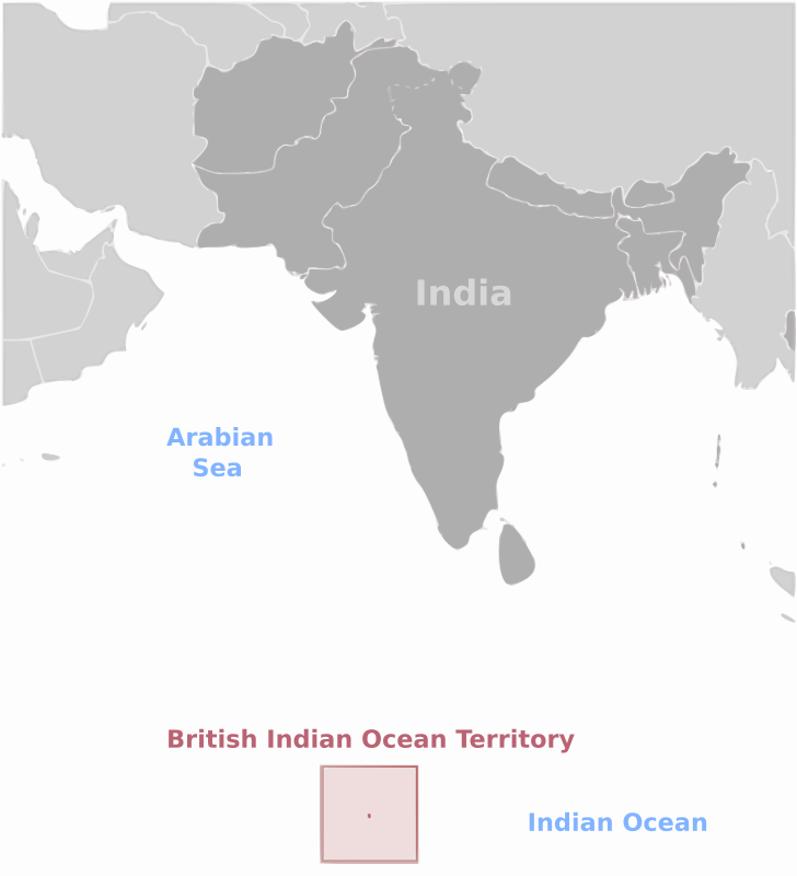 Free British Indian Ocean Territory location label