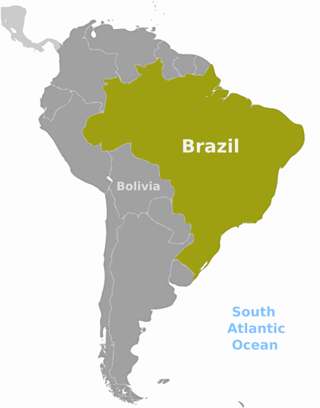 Free Clipart: Brazil location label | wpclipart
