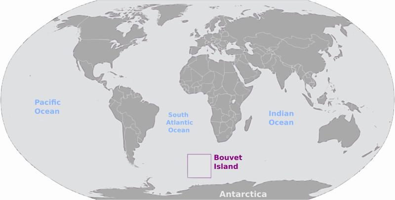 Free Bouvet Island location label