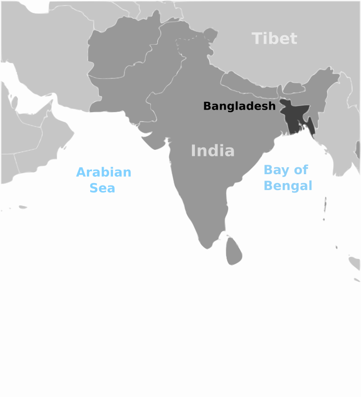 Free Bangladesh location label