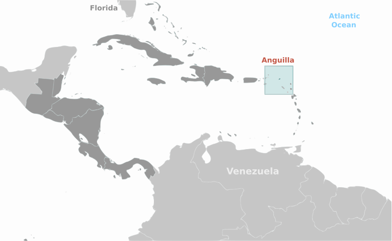 Free Anguilla location label