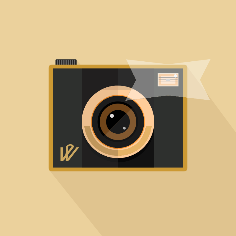 Free Clipart: Camera with Flash | barrettward