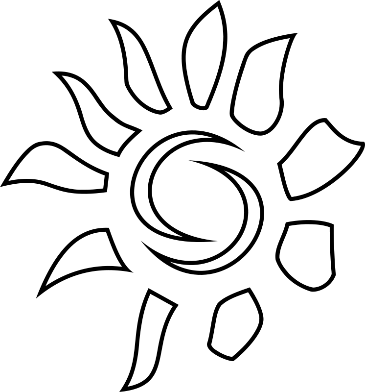 Free Sun Icon - Coloring Book