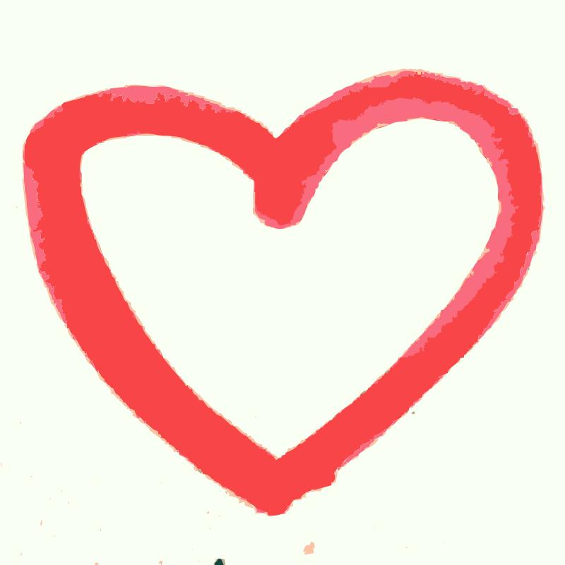 Free Clipart A Hand Drawn Heart Rejon