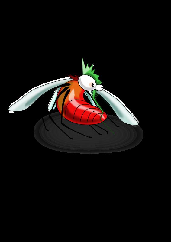 Free fat blood-drunken mosquito