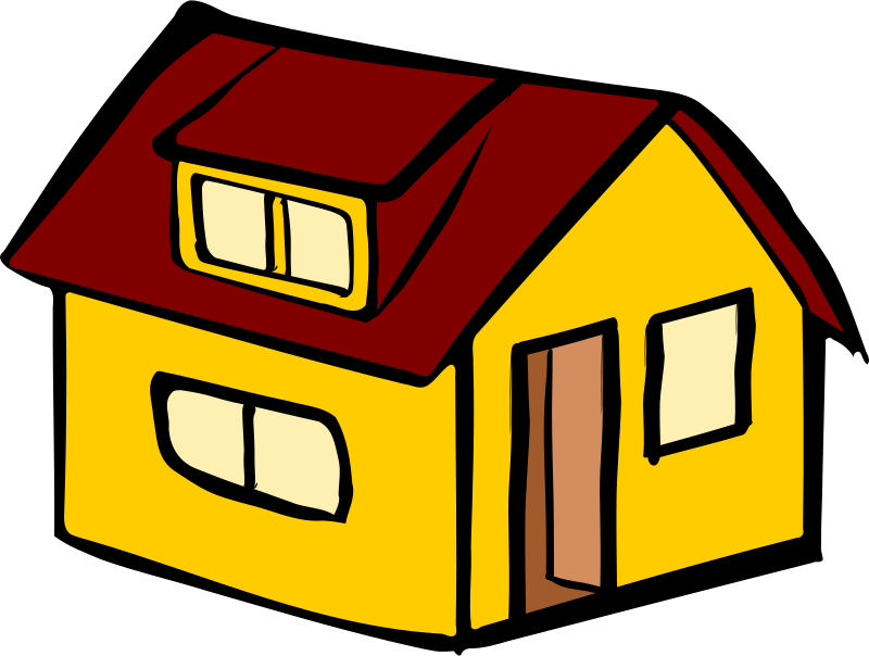 Free Yellow detached house