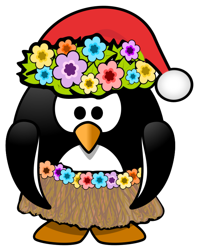 Christmas In July Free Image.Free Clipart Christmas In July Penguin Kamc
