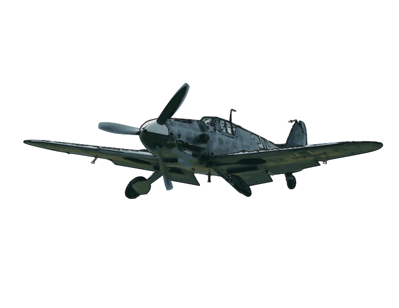 Free Messerschmidt Bf109G in comic book style