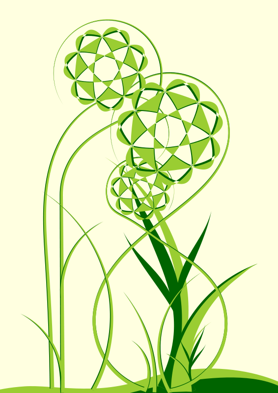 Free Clipart: Green Floral | vatanyraul