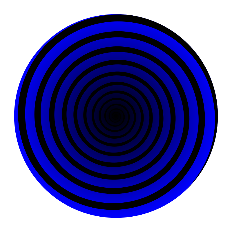 Free Clipart: Blue Spiral